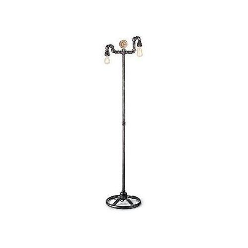Ideal lux 175348 lampa podłogowa plumber czarny postarzały