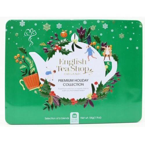 Zestaw herbatek Premium Holiday Collection w ozdobnej zielonej puszcze BIO