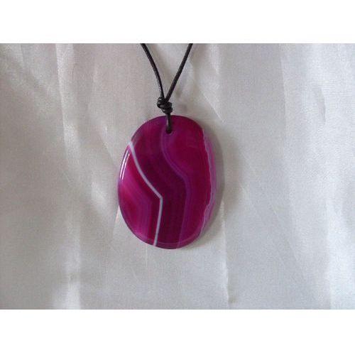 N-00027 Naszyjnik z agatu w kolorze fuksji, 22-03-11