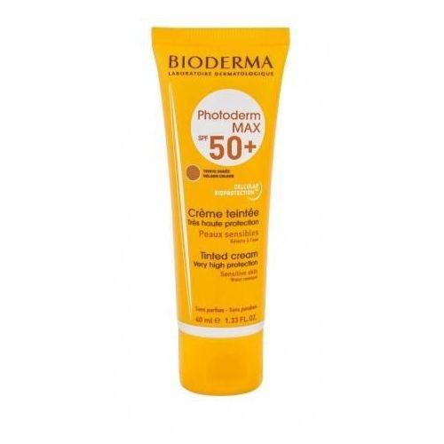 photoderm max tinted cream spf50+ preparat samoopalający do twarzy 40 ml dla kobiet golden colour marki Bioderma