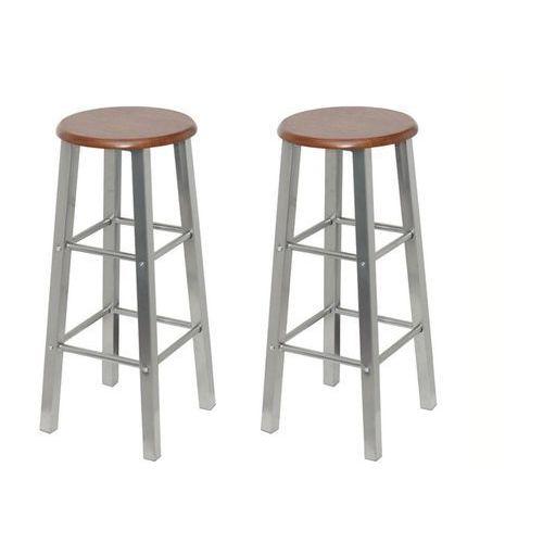 Stołki barowe z metalu, siedzisko z mdf, 2 szt. marki Vidaxl