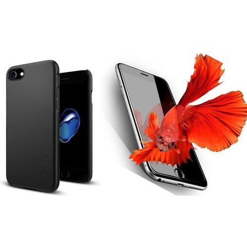 Zestaw   spigen sgp thin fit black   obudowa + szkło ochronne perfect glass dla modelu apple iphone 7 marki Sgp - spigen / perfect glass