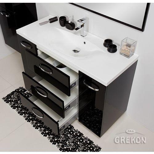 Czarna szafka łazienkowa z umywalką 120/48/c jona marki Gante