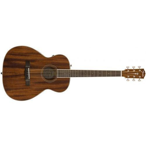 pm-te travel, ovangkol fingerboard, all-mahogany w/case gitara elektroakustyczna marki Fender