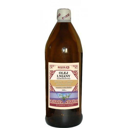 Olej Lniany budwigowy wysokolinolenowy tłoczony na zimno 1000ml BIOOIL (5907722370044)