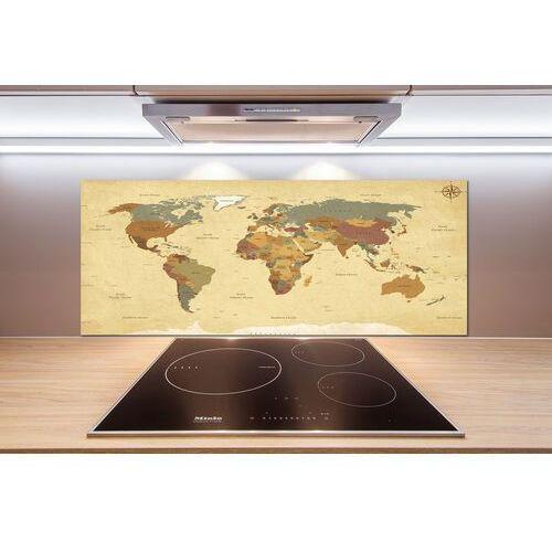 Panel do kuchni mapa polityczna marki Wallmuralia.pl