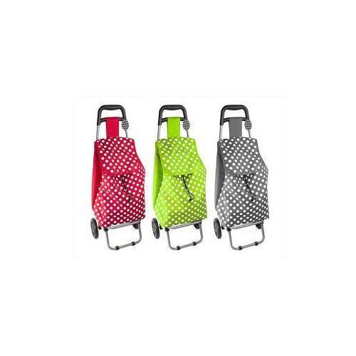 RSW Wózek na zakupy zielony w białe kropki