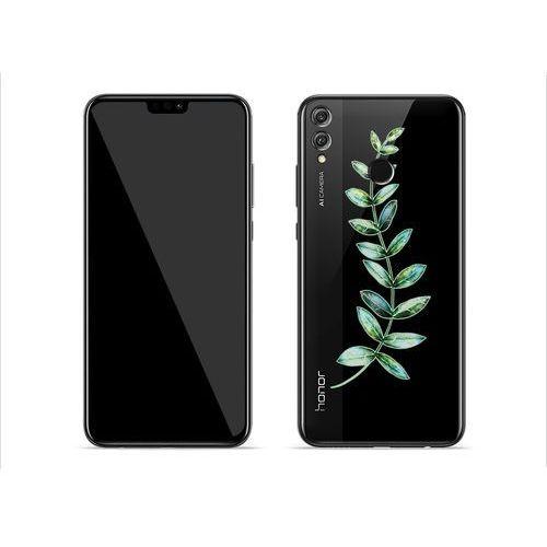 Huawei Honor 8X - etui na telefon Crystal Design - Zielona gałązka, ETHW802CRDGDG003000