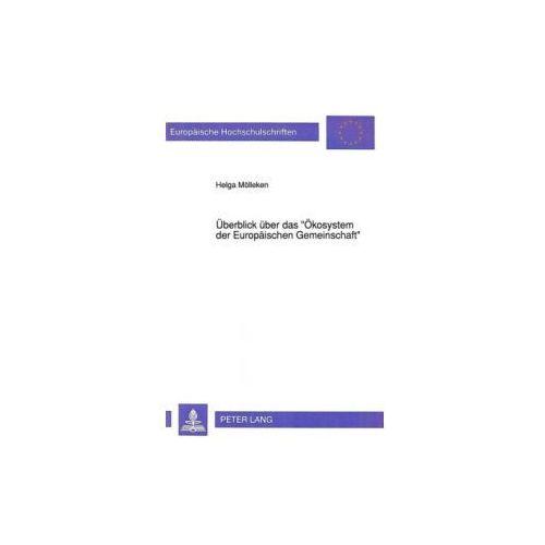 Überblick über das «Ökosystem der Europäischen Gemeinschaft» (9783631446805)
