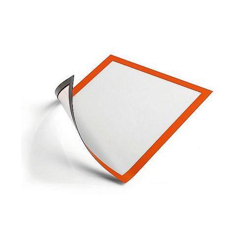 Ramka magnetyczna Duraframe Magnetic A4 pomarańczowa Durable 486909 - 5szt.