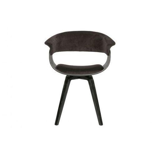 Be Pure Krzesło Catch velvet brązowo-czarne 800194-B, 800194-B