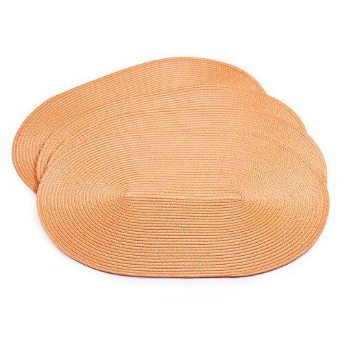 4-home Jahu podkładki na stół deco owalne pomarańczowy, 30 x 45 cm, zestaw 4 szt.