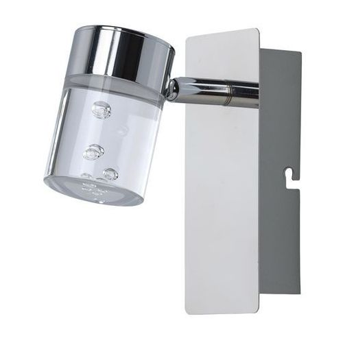 Mw-light Szklany reflektor ścienny na chromowanej podstawie regulowany (543020601)