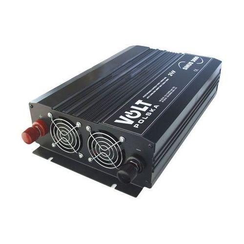 Volt sinus 3000-24v przetwornica samochodowa 1500/3000w 24v/230v z pełną sinusoidą (5909182418861)