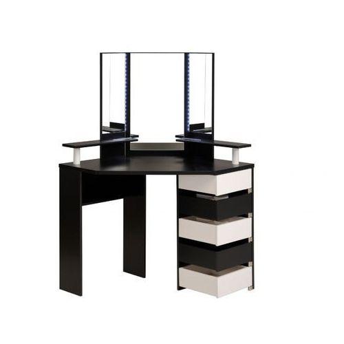 Vente-unique Toaletka marylin - lustro i miejsce na przechowywanie - kolor czarny i biały
