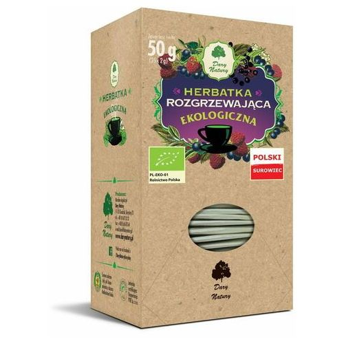 Herbata rozgrzewająca fix bio 25*2g marki Dary natury