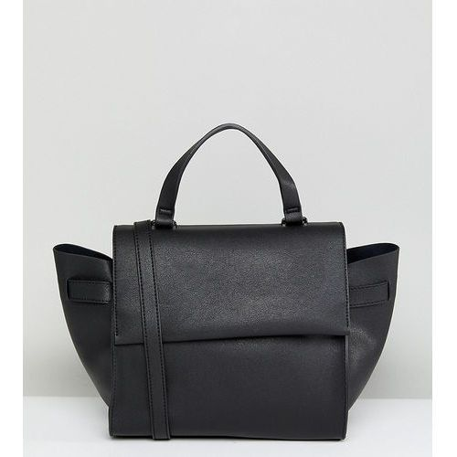 Glamorous structured tote bag in black with cross body strap - black