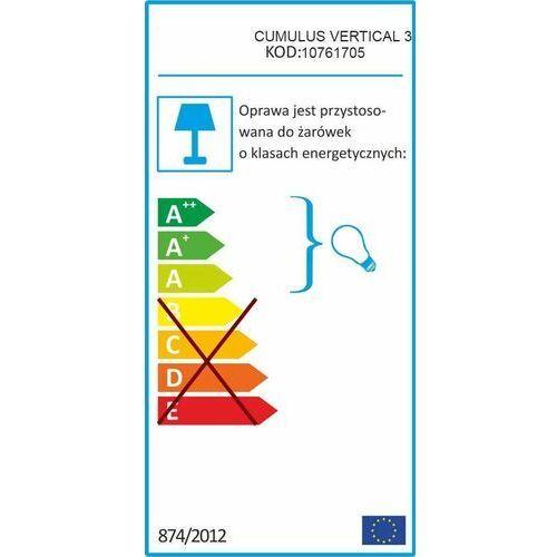 LAMPA sufitowa CUMULUS 10761705 Kaspa modernistyczna OPRAWA loftowa złota biała (5902047305658)
