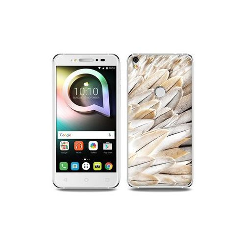 Alcatel Shine Lite - etui na telefon Foto Case - białe pióra, ETAL431FOTOFT017000