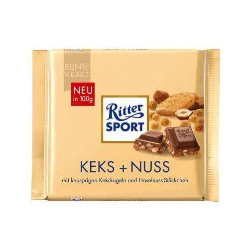 Czekolada mleczna z kawałkami orzechów laskowych i chrupiącymi kuleczkami ciasteczkowymi Ritter Sport 100 g (4000417024008)