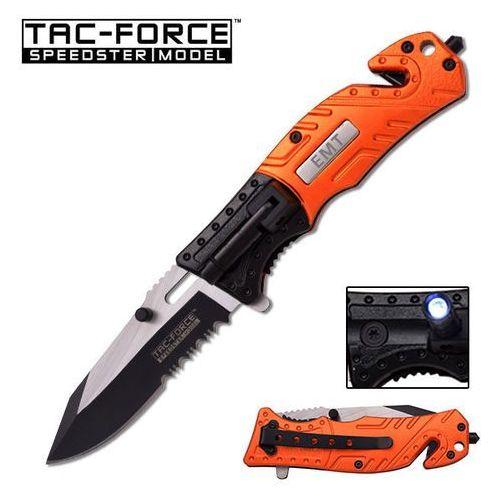 Nóż prof ratowniczy z latarką ostrze składane tf-835em marki Usa