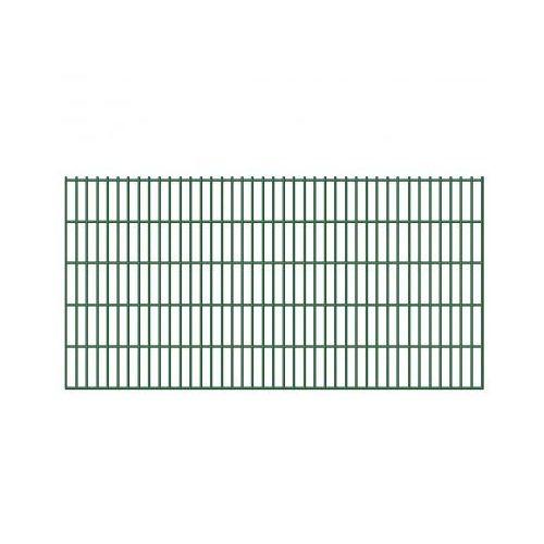Ogrodzenie panelowe siatka 6/5/6 mm, 103 cm x 40 m, 20 szt. ze sklepu VidaXL