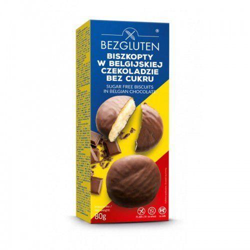 Bezgluten Biszkopty w belgijskiej czekoladzie bez cukru owe 80g - bezgluten (5906720575604)