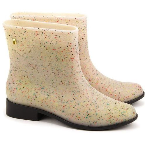 Moon Dust II - Beżowe Gumowe Kalosze Damskie - 31373 52076 (kalosz damski) od MIVO Shoes Shop On-line