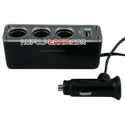 Rozgałęziacz gniazda zapalniczki 12V/24V + port USB