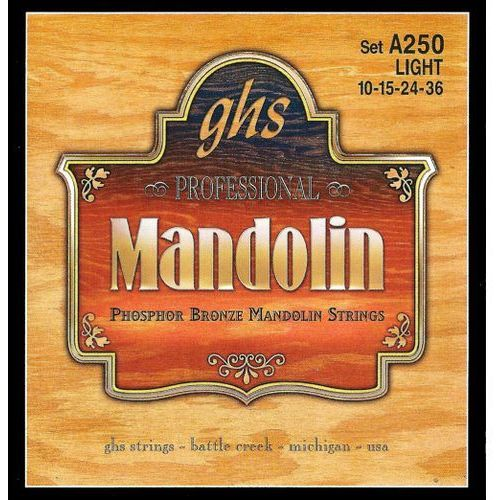 professional struny do mandoliny, loop end, phosphor bronze, light,.010-.036 marki Ghs