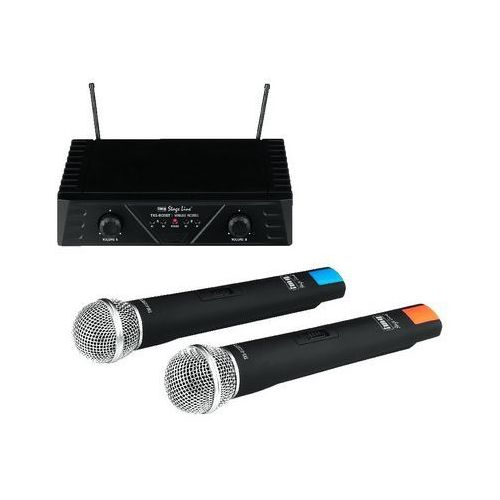 Monacor Txs-812set - mikrofon bezprzewodowy, podwójny, dwukanałowy