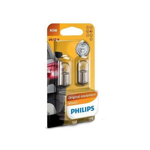 Zestaw 2x żarówka samochodowa vision 12821b2 r5w ba15s/5w/12v marki Philips