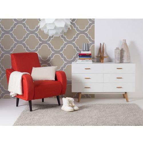 Fotel karmazynowy – do salonu – tapicerowany – stylowy - BANGOR - sprawdź w Beliani