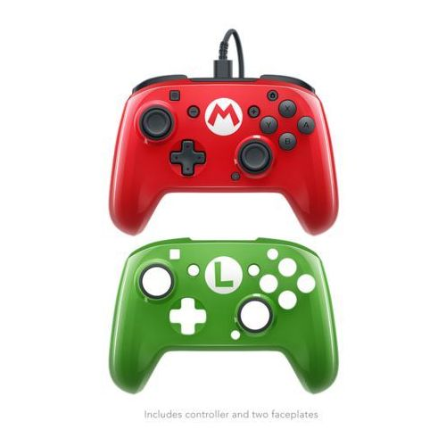 PDP Switch Super Mario Faceoff Deluxe Wired Pro Controller - Gamepad - Nintendo Switch