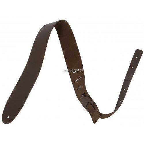 Akmuz pes-7 pasek gitarowy skórzany, średni brąz