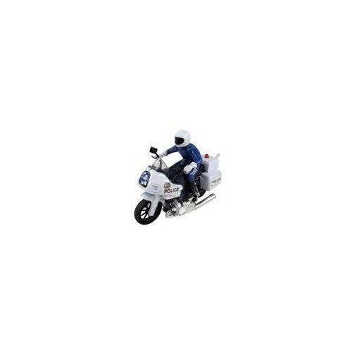 Motocykl ścigacz z policjantem