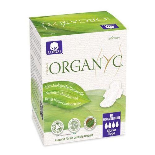 Organyc Podpaski higieniczne z bio-bawełny ze skrzydełkami na noc (♠♠♠♠)