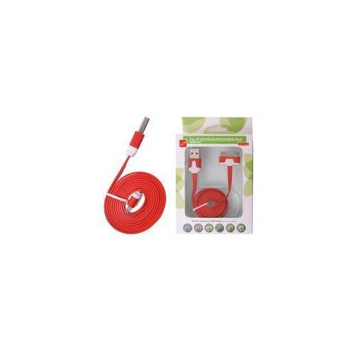 Kabel usb ipad 3/2 iphone 4s/s płaski czerwony, marki Global technology