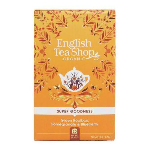 Zielona herbata rooibos, granat i jagoda 20x1,75 g bio 35 g p marki English tea sho