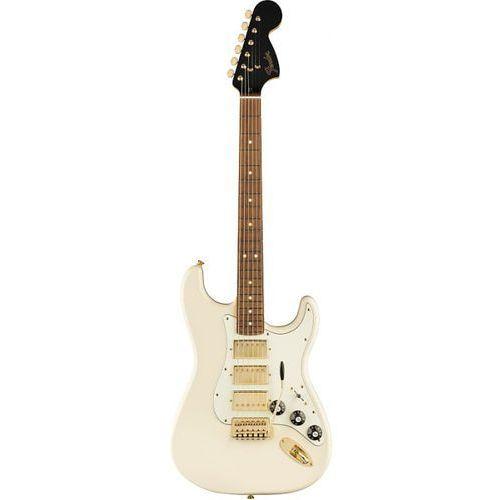 Fender Limited Edition Blacktop Mahogany Stratocaster 3H PF Opal White gitara elektryczna