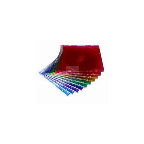 Pudełko na płytki CD 5,2 mm Slim kolorowe ( 10 pack)