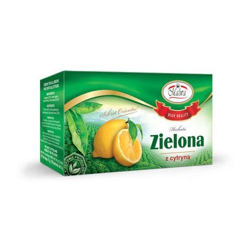 Herbata zielona o smaku cytrynowym ex'20 marki Malwa