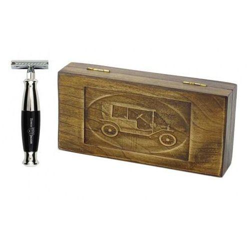 Margo Zestaw prezentowy retro samochód - maszynka ej z czarną rączką, w drewnianym pudełku