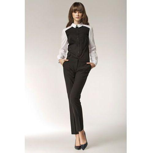 Czarne Eleganckie Spodnie z Kieszeniami, w 5 rozmiarach