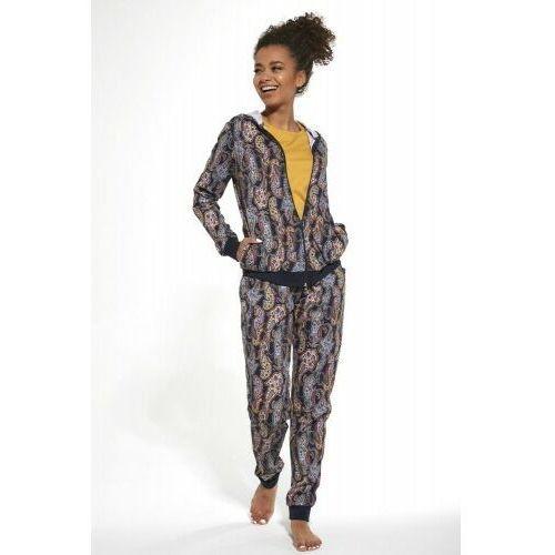 Bawełnian piżama damska 3 częściowa 355/272 octavia granatowa, Cornette