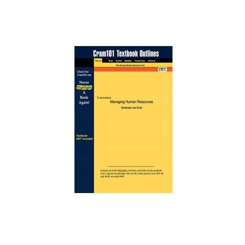 Studyguide For Managing Human Resources By Snell, Bohlander & , Isbn 9780324282863