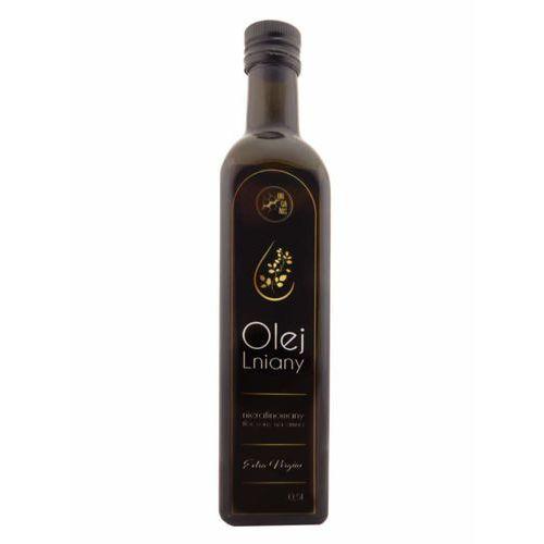 Olej Lniany Tłoczony Na Zimno Extra Vergine Szklane Opakowanie 500 ml
