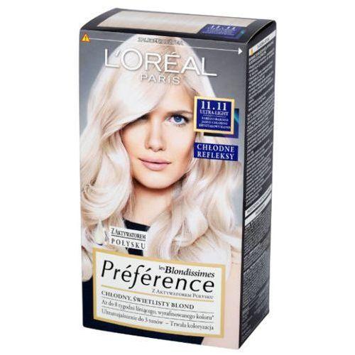 L'OREAL Les Blondissimes Preference farba do wlosow 11.11 Bardzo Bardzo Jasny Chlodny Krysztalowy Blond, L'Oreal Paris