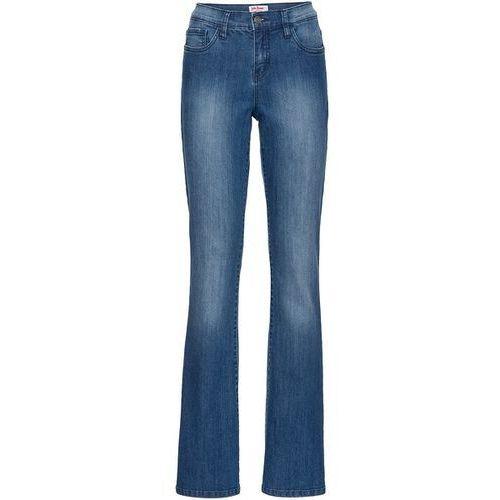 Dżinsy ze stretchem BOOTCUT  niebieski marki bonprix