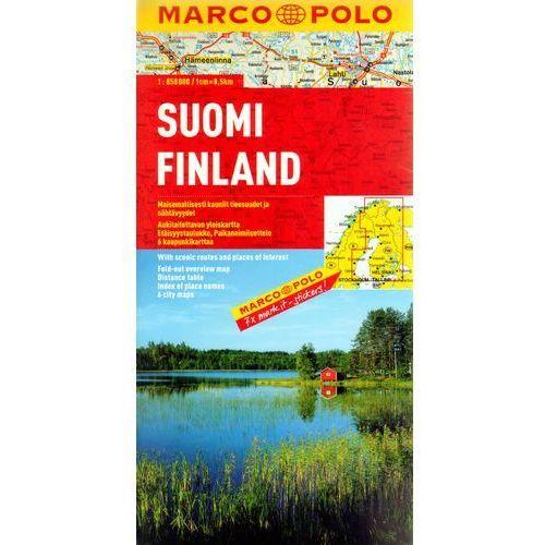 Finlandia 1:850 000. Mapa samochodowa, składana. Marco Polo (2 str.)
